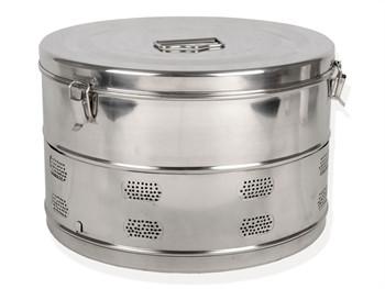 Cutie rotunda sterilizare diametru 390 mm