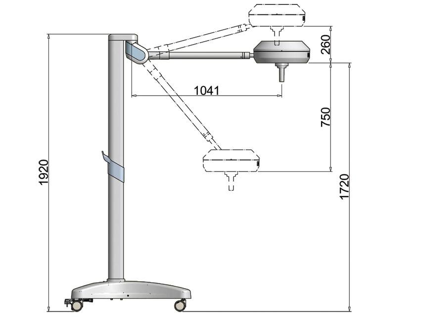 Lampa scialitica TRIS LED- 100,000 Lux