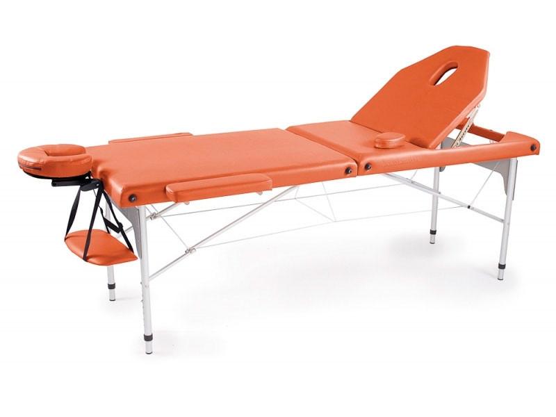 Masa masaj aluminiu cu spatar rabatabil