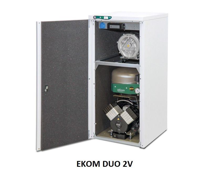 Compresor cu pompa de vacuum si uscator EKOM DUO