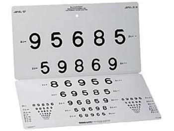 Optotip numere - distanta 3 m