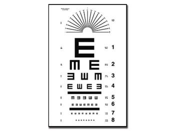 "Tabel optometric TUMBLING ""E"""