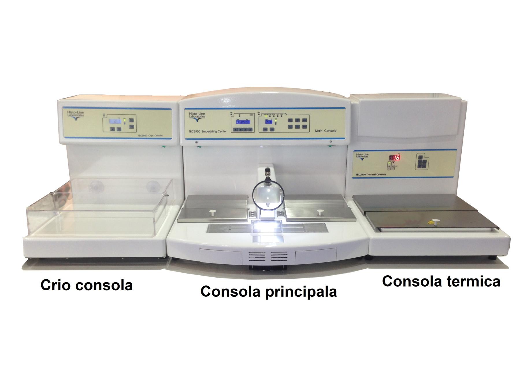 Consola trimodulara de includere la parafina