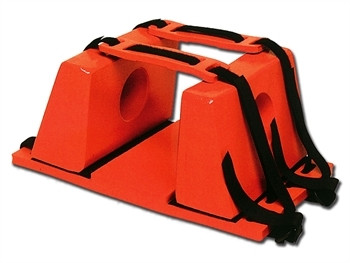 Dispozitiv imobilizare cap STOP-portocaliu