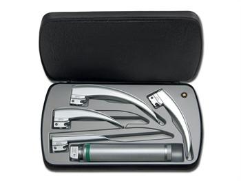 Set laringoscop HEINE CLASSIC cu 4 lame laringoscop  paed 1,mac 2, mac 3, mac 4