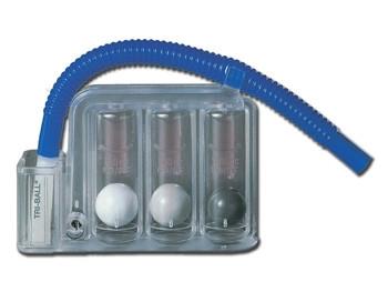 Dispozitiv pentru exercitii de respiratie TRI-BALL