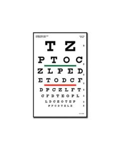 Tabel optometric SNELLEN - 6 m