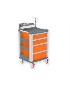 Troler urgenta Compact cu 4 sertare