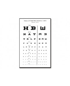 Tabel optometric MIXED DECIMAL