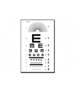 "Tabel optometric TUMBLING ""E"""