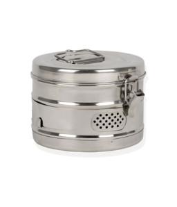Cutie rotunda de sterilizare diametru 120 mm