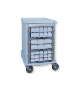 Carucior pentru medicamente cu 60 sertare