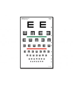 "Tabel optometric TUMBLING ""E"" - 6 m"